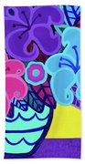Big Colorful Lillies Bath Towel