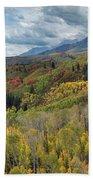 Big Cottonwood Canyon Fall Colors Bath Towel