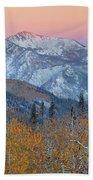 Big Cottonwood Canyon Wasatch Sunrise Hand Towel