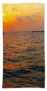 Big Pass Sunset Sarasota Florida Bath Towel