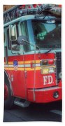 Big Red Engine 24 - Fdny - Firefighters Of New York Bath Towel