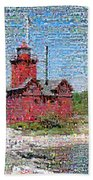 Big Red Photomosaic Bath Towel