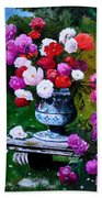Big Vase With Peonies Bath Towel