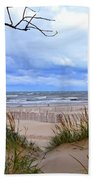 Big Waves On Lake Michigan 2.0 Bath Towel