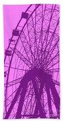 Big Wheel Purple Bath Towel