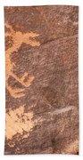 Bighorn Petroglyph Bath Towel