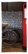 Bike - Two Bikes And A Gas Pump Bath Towel