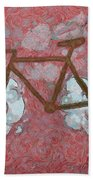 Bike-cloud Red - Da Bath Towel