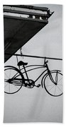 Bike In The Air Hand Towel