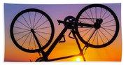 Bike On Seawall Hand Towel