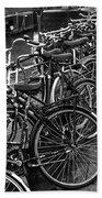 Bike Parking -- Amsterdam In November Bw Bath Towel
