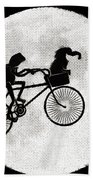 Biker Of The Moon Bath Towel