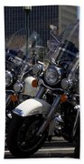 Bikes In Blue Hand Towel