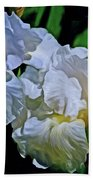 Billowing White Irises Bath Towel