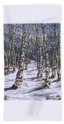 Birch Tree Mosaic 2 Bath Towel