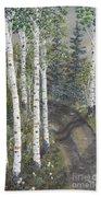 Birch Trees Along Kennys Road  2 Bath Towel