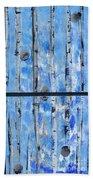 Birch Trees - Blue Bath Towel