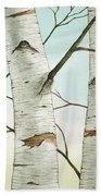 Birch Trees In Late Autumn Bath Towel