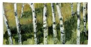 Birches On A Hill Hand Towel