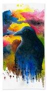 Bird 71 Crow Raven Bath Towel