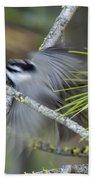 Bird In Action Bath Towel