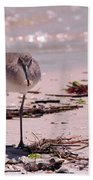 Bird On The Beach Bath Towel