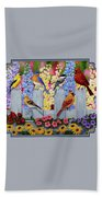 Bird Painting - Spring Garden Party Bath Towel by Crista Forest