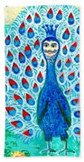 Bird People Peacock King And Peahen Hand Towel