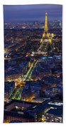 Bird's Eye On Paris 2 Bath Towel