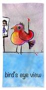 Birds Eye View Bath Towel