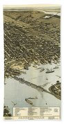 Birds Eye View Of Jacksonville Florida 1893 Bath Towel