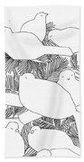 Birds In Pine Bath Towel