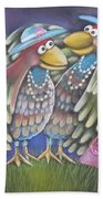 Birds Of A Feather Stick Together Bath Towel