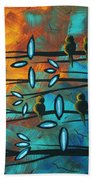 Birds Of Summer By Madart Bath Towel