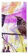 Birds Stare Nature Songbird  Bath Towel