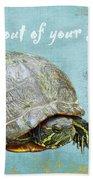 Birthday Card - Painted Turtle Bath Towel