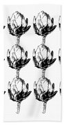 Black And White Artichokes- Art By Linda Woods Hand Towel by Linda Woods