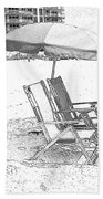 Black And White Beach Chairs Bath Towel