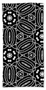 Black And White Boho Pattern 2- Art By Linda Woods Hand Towel by Linda Woods