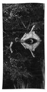 Black And White Cyclops Hand Towel