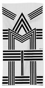 Black And White M Bath Towel