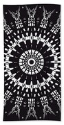 Black And White Mandala No. 1 Bath Towel