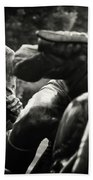 Black And White Photography - Motorcyclists Bath Towel