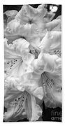 Black And White Rhododendron Bath Towel