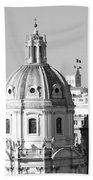 Black And White Rooftop In Rome Bath Towel
