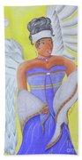 Black Angel Bath Towel