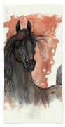 Black Arabian Horse 2013 11 13 Bath Towel