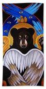 Black Bear Seraphim Bath Towel