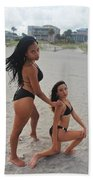 Black Bikinis 18 Bath Towel