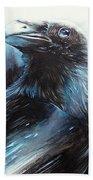 Black Bird Bath Towel